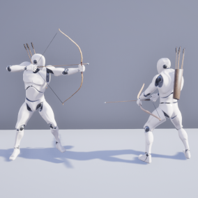 Third Person Archery System implemented entirely in blueprints