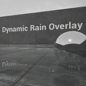 Quickly add (and modify) rain on any material using this function!