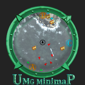 UMG Minimap that supports both texture or render target, Rectangular/Circular style, Fixed/Rotating, Custom border/Borderless and zoom in and out.