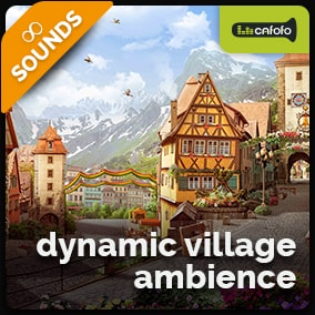 Generate endless variations of ambiances suitable for medieval villages and RPG/Fantasy games controlling dynamic sound layers and textures.
