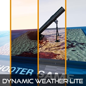 Dynamic weather Lite, all materials change automatically when it starts to rain or snow
