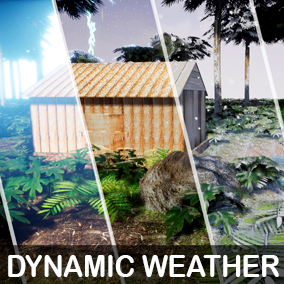 Dynamic Weather System, rain, snow, ice, storm, day and night system