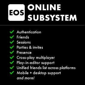 This plugin provides an Unreal Engine online subsystem for Epic Online Services.