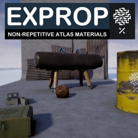 EXPROP Non-repetitive atlas & Color ID Texturing