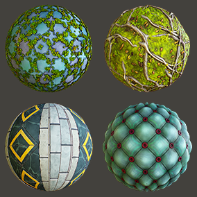 8 PBR stylized Castle materials