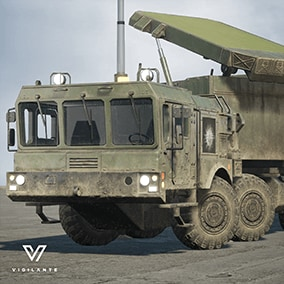 """The S400 Radar (East) multi-function radar comes with Desert textures, is fully rigged, has animated tracks, doors, and """"Grave Stone"""" missile control radar.  This vehicle is DIS/HLA (RPR FOM) Integration ready. Designed for simulations."""