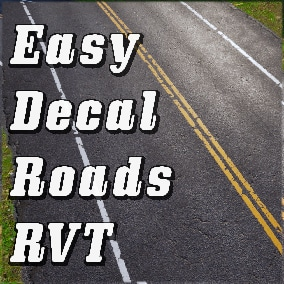 Easy to use and flexible decal roads creation tool based on Runtime Virtual Texturing.