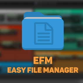 EFM Allows developers to quickly interact with files on the user's disk. EFM Offers runtime image loading from files, writing to text files, operating on directories,files etc.