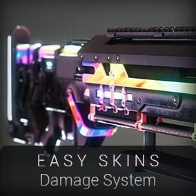 Complete solution to easily create your skins with damage effect