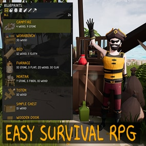 Easy Survival RPG. This is an advanced system designed from the ground up for multiplayer with a ton of different features for Unreal Engine 4.
