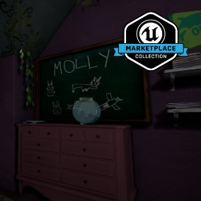 "From developer Giant Sparrow Games and publisher Annapurna Interactive, Edith Finch: Molly's Room is a collection of high quality meshes, textures and materials from the 2017 release, ""What Remains of Edith Finch""."