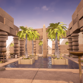 This pack is what you need to construct an Egypt environment for your game.
