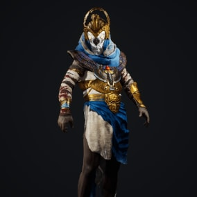 A high quality Egyptian God  character suitable for Historic and Fighting settings for your projects