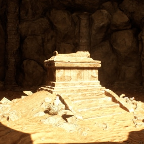 This project features over 55 props & modular components to create a highly believable Egyptian tomb with numerous props to make it look authentic.
