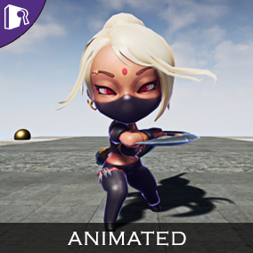 Animated assassin concept fantasy character.