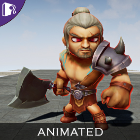 Animated Barbarian concept fantasy character.