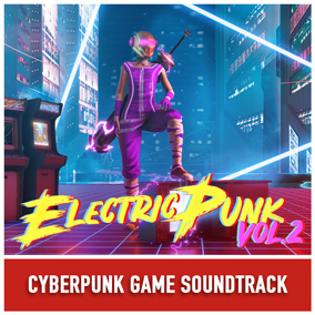 An energetic and gritty electronic soundtrack.