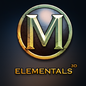 Set of 4 elemental models.