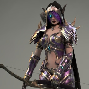 Elf Woman Archer Warrior