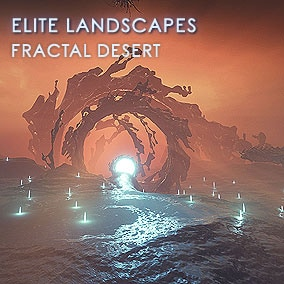 Very affordable Fractal Desert pack features 4 landscapes with 8k resolution, 3 HQ fractal meshes and a movie quality sky panorama