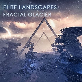 Very affordable Fractal Glacier pack features 4 landscapes with 8k resolution, HQ fractal meshes and a movie quality sky panorama