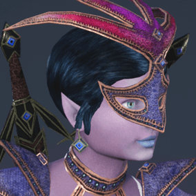 Low polygonal game ready animated model of a elf woman.