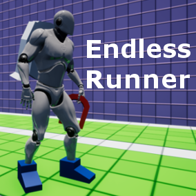 Generic endless runner game, designed entirely in blueprints.