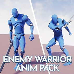 Realistic Enemy Warrior animations for a souls-like game