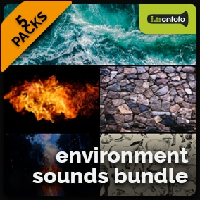 High-quality environment & nature sound effects. This bundle includes 5 high-quality sound packs and 300 exclusive, additional sounds. Total of +1.700 SFX