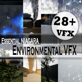 Highly Optimized Niagara based Weather Environmental VFX Pack