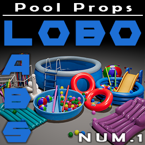 Are you ready for some fun in the sun with these detailed pool props?