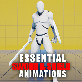 This package includes essential animations for a character with sword & shield combat style, with a playable character blueprint. Recommended for an action RPG game.