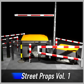 Optimized and game-ready street props asset pack with barriers, bollards, saltboxes, railings and height barriers. Perfect Starter Pack for your game.