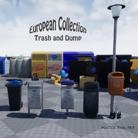 A realistic looking european trash and dump pack. Made with love, tears and a bunch of energydrinks. Just Drag&Drop, most objects with a clean and a old/dirty Texture.