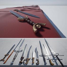 Contains ten high quality, European swords.