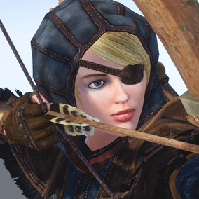 Low polygonal game ready animated model of Medieval Hunter Female. Character is perfect for a first person or 3rd person adventure game.  May fight as warrior, archer, rogue, etc.