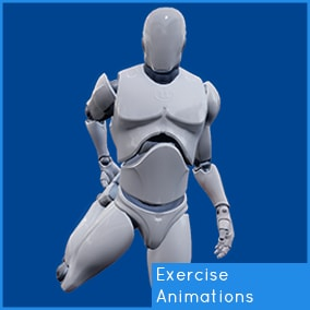 27 Exercise Animations. Targeted to the UE4 Mannequin.