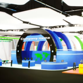 Exhibition - interior and equipment for your VR or other project.