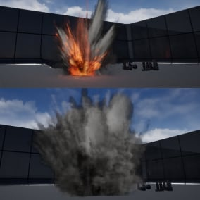 Various types of realistic explosion effects