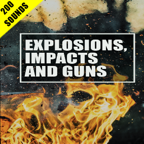 200 high-quality sound effects for Explosions, Impacts, and Guns!