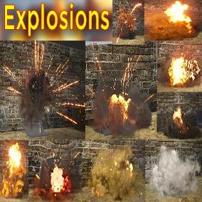 Explosions Niagara Pack 09