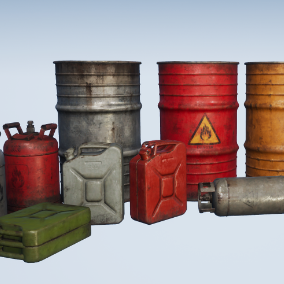 Collection of 5 High Quality Explosive Props, perfect for use as in the environment.