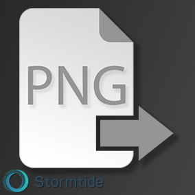 Allows PNG file export in the Content Browser