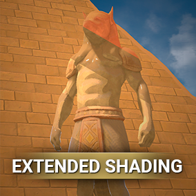 The plugin extends the shading capabilities and does so without additional overhead. Plugin tools are easy to use and designed to create various stylized shadings such as Tool Shading, Flat Color Shading, Unlit with Shadows.