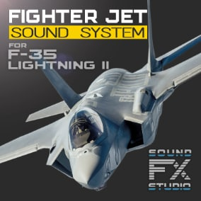 The F-35 Lightning II Fighter project contains all the necessary material to control the advanced flight model and reproducing the sounds of a single-engine, stealth multirole combat aircraft. Revive your F-35 Lightning II Stealth Fighter!