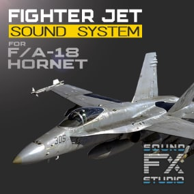The F/A-18 Hornet Fighter Jet project contains all the necessary material to control the advanced flight model and reproducing the sounds of a twin-engine jet fighter aircraft. Revive your US Navy's F/A-18 Hornet Jet Fighter!