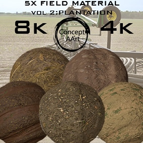 5 AAA Quality Field Materials for all platforms. All Textures have their own 8K,4K,2K and 1K version and ready for every kind of project.