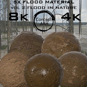 5 AAA Quality Flood for all platforms. All Textures have their own 8K,4K,2K and 1K version and ready for every kind of project.