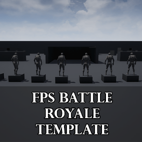 With this template, create your own Battle Royale game.