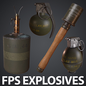 This pack contains 11 AAA quality game ready meshes/Textures for your Unreal FPS project.